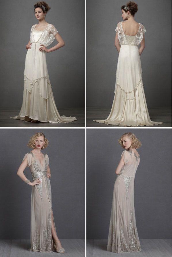 258 best ART DECO BRIDAL GOWNS images on Pinterest | Wedding frocks ...