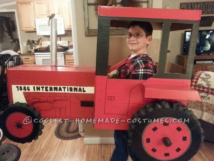 Cool Tractor Costume for 9 year old Boy...