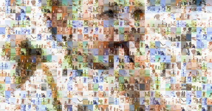 """Como fazer um mosaico no Photoshop CS5. O Adobe Photoshop CS5 pode criar um mosaico, chamado """"folha de contato"""", a partir de várias fotos. Esta função permite a você criar uma imagem grande que parece ter sido feita de várias outras menores. Você seleciona as imagens para os ladrilhos do mosaico, muda suas dimensões para criar vários quadros pequenos, cria uma folha de contato a partir ..."""