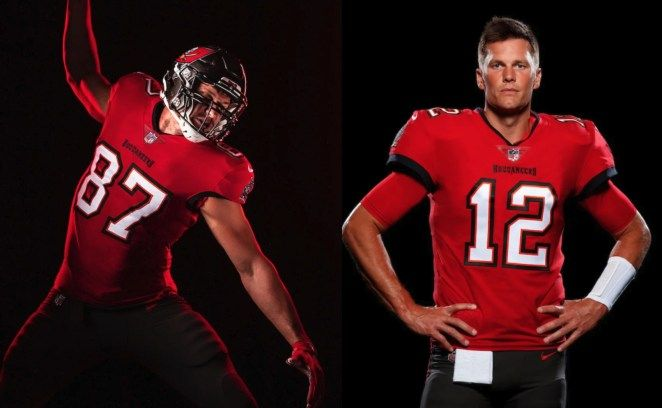 Gallery Tampa Bay Bucs Release First Photos Of Ex Patriots Tom Brady And Rob Gronkowski In New Uniforms Tampa Bay Bucs Gronkowski Tampa Bay