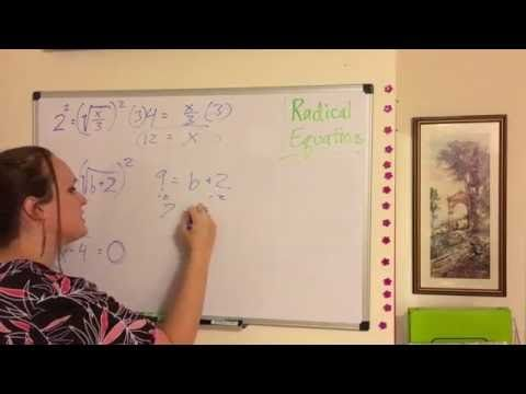 Radical Equations - Simple! - YouTube