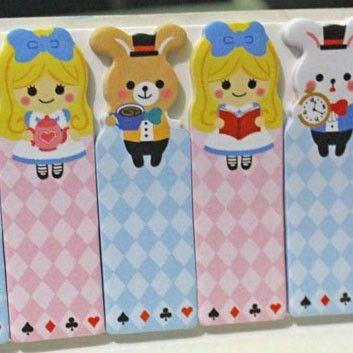 Marcapáginas adhesivos - Alicia Buy here: www.lacasadepapel.com
