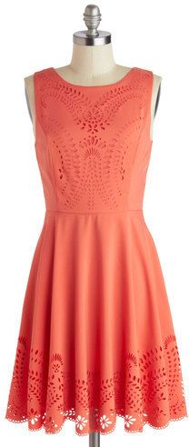 Coral Dress for the summer