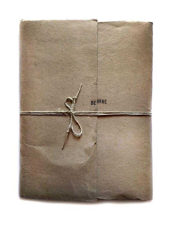 * BE HERE . an unique handmade book . 2012 . juanan requena *