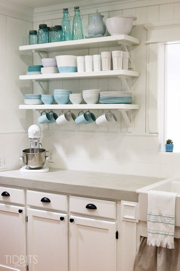 Cottage Fresh Kitchen Reveal | Open shelving, Kitchens and