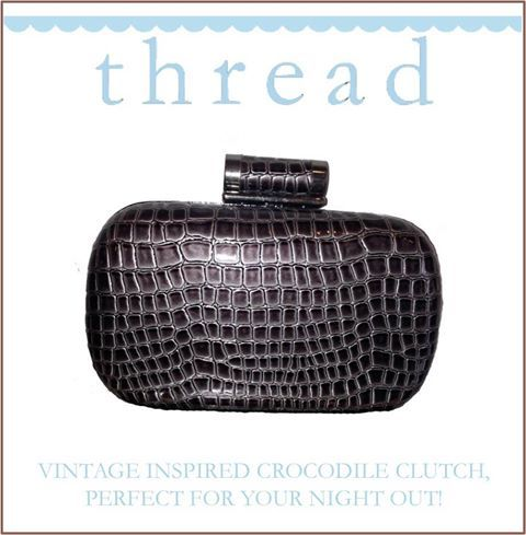Vintage inspired crocodile clutch - perfect for your night out!