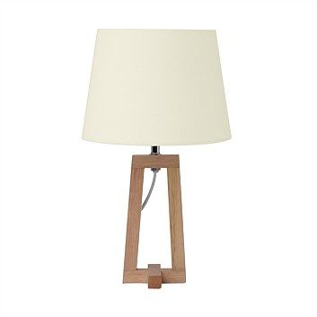 Briscoes - Tablefair Valletta Table Lamp Wooden