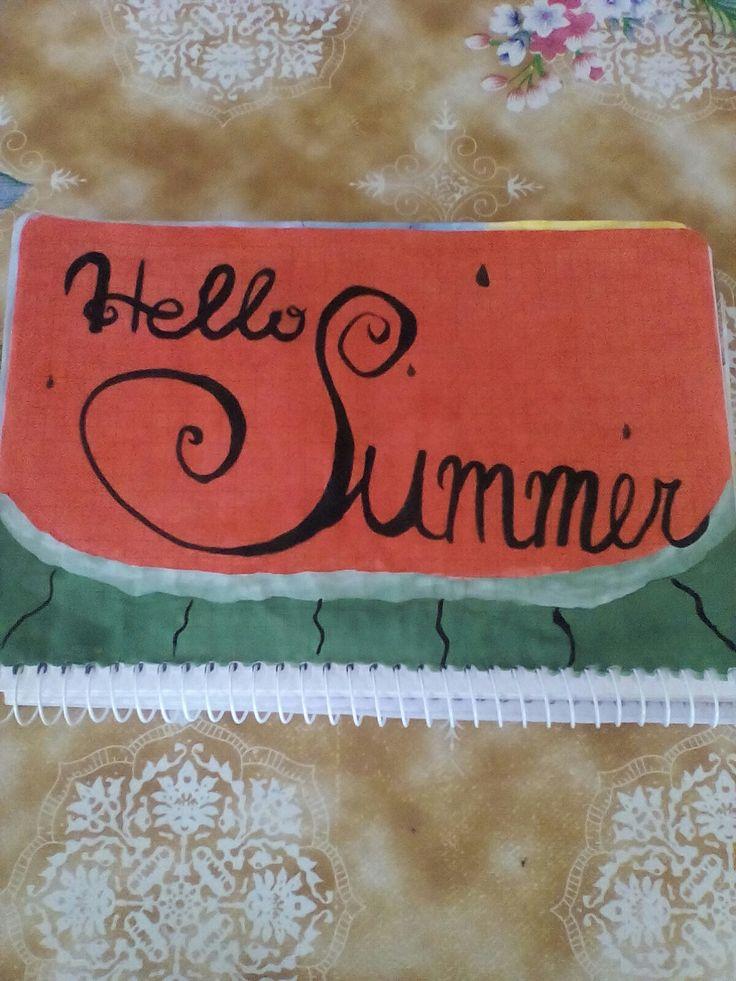 Как нарисовать красивый летний рисунок в блокноте в клеточку. Лето ягоды арбуз кавун привет лето!