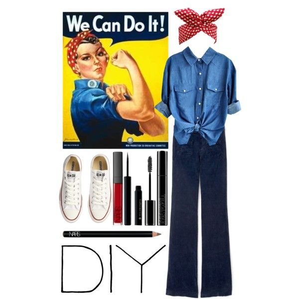 """You can do it too!"" by historychick on Polyvore. Got to remember this for Halloween next year."