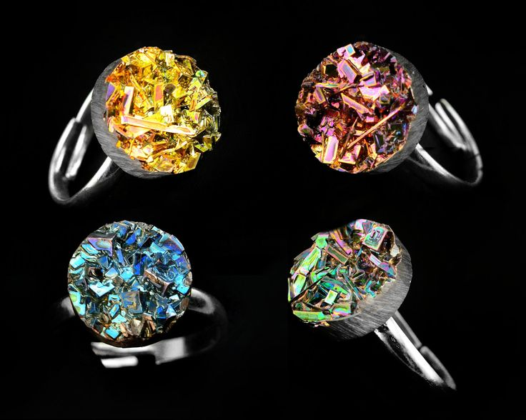 Bismuth Crystal Ring March 2017