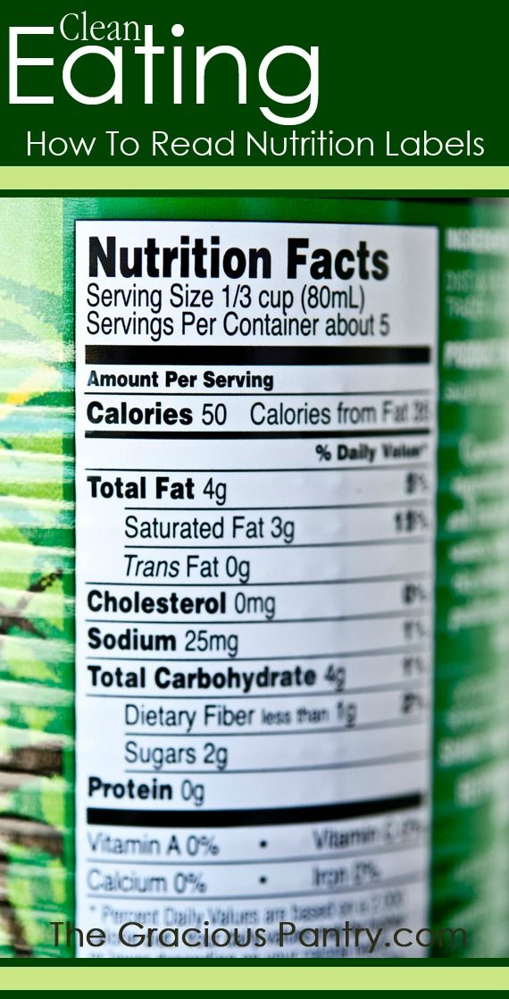how to read nutrition labels for dummies