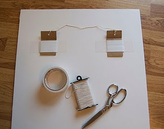 how to hang a foam board - perfect for my map board project
