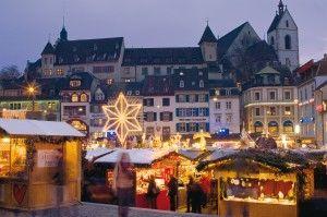 Basler Weihnachtsmarkt. © Basel Tourismus - christmas market in Basel Switzerland