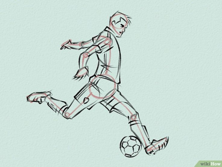 football playing drawing easy