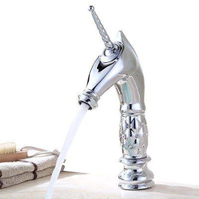 Homelody® Einhorn Design Typ Waschbecken Wasserhahn Armatur Bad Badzimmer Waschbecken Einhebelmischer Waschtischarmatur Waschtisch