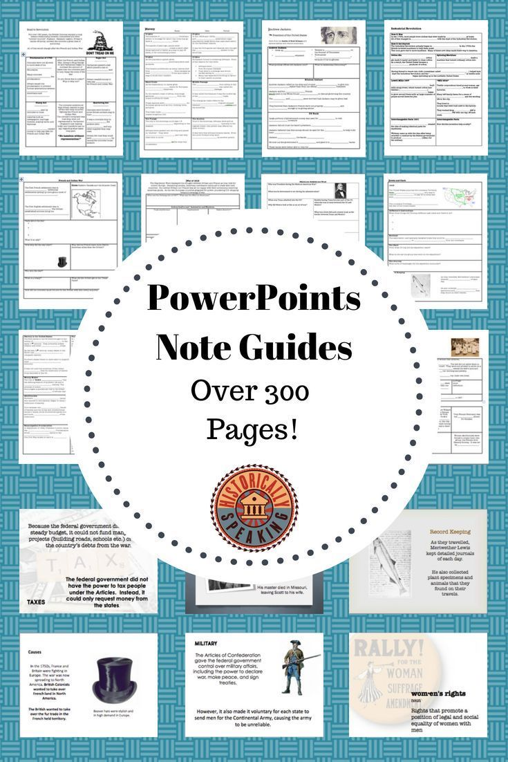 US History: PowerPoints and Note Organizers | Middle School Teacher