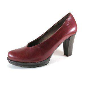 Zapatos de tacón de salón piel burdeos Yokono