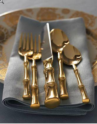 On my wish list - Gold Bamboo Flatware