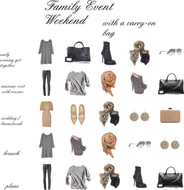 The Weekend with Family, how to dress/pack for this and other type events.