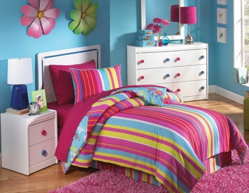 the horizon youth bedroom group by oak furniture west includes a headboard dresser mirror