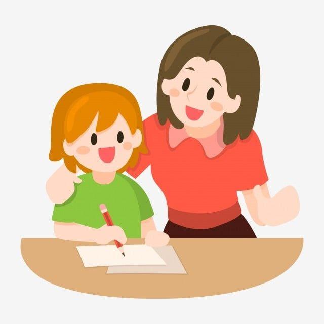 الأم تعليم أطفالها التوضيح اكتب دراسة يعلم Png والمتجهات للتحميل مجانا Children Illustration Mother Teach Mother And Child Painting