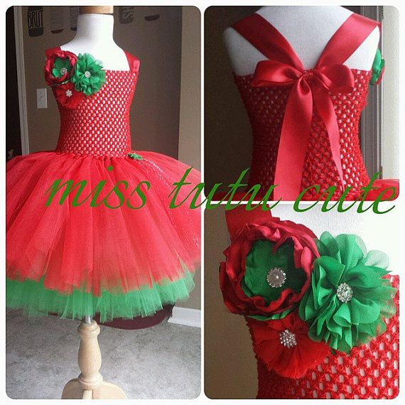 Christmas Tutu Dress size 12 months 2t 3t 4t 5t by MissTutuCute2