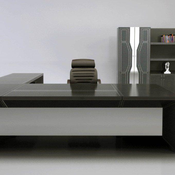 16 Charming Office Table Design With Glass Top Di 2020 Dengan Gambar