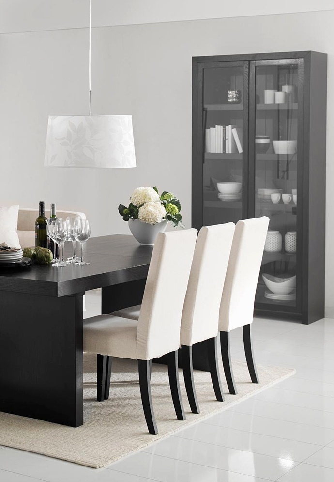 Black dining table