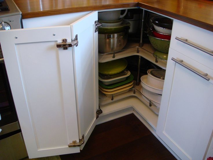 https://flic.kr/p/8pNSbq | The Sweet Pea Café | The lazy-susan carousel corner base cabinet.  Very convenient storage cabinet where we store larger items - like our crock pot, roaster pan, casserole dishes, colanders, large mixing bowls...