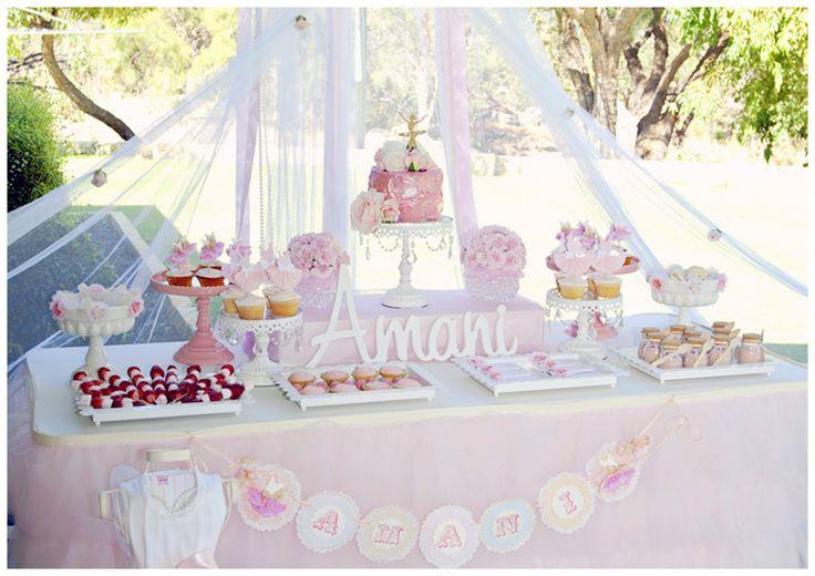 Dance & Twirl Theme:  Pink Dessert Buffet
