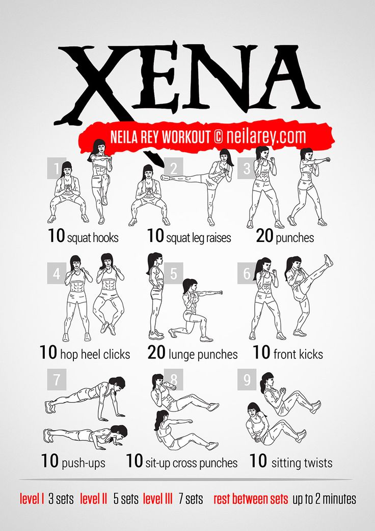 Xena Workout :: I don't care much about Xena but some good squats here, to change form my usual ones.