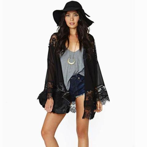 Chiffon Lace Jacket