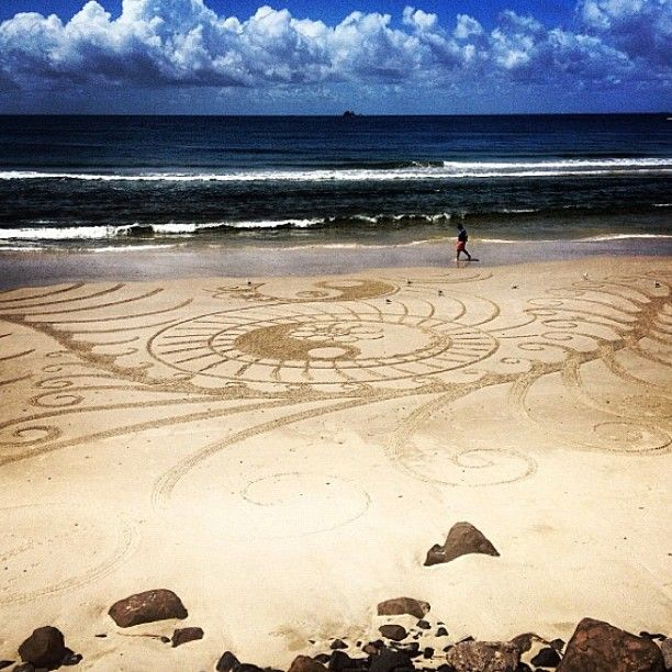 Sand drawings at #Byron Bay #Australia