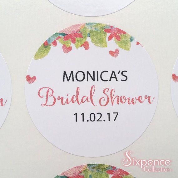 24 x White Gloss Personalised Bridal Shower Floral Water