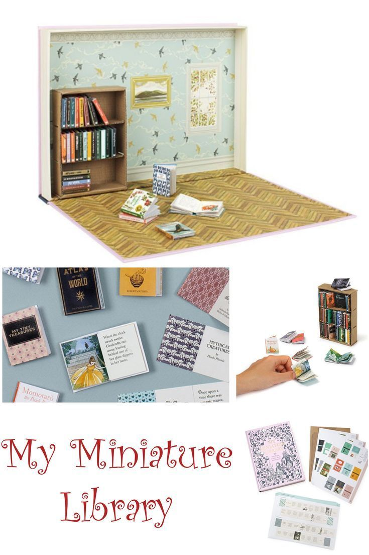 My Miniature Library is SO CUTE !!! Create a tiny library of