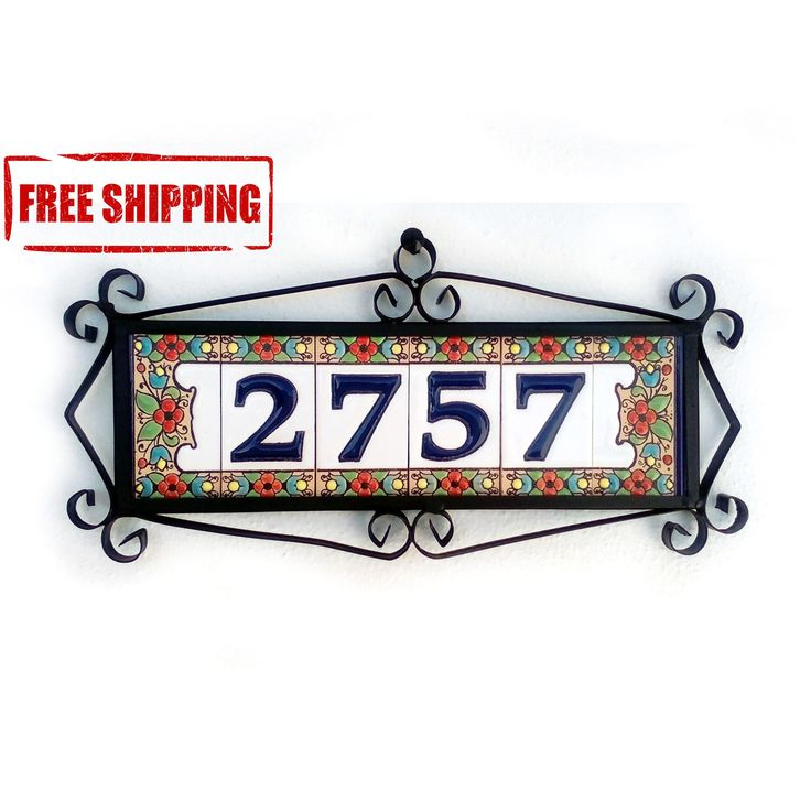 Selling out fast! Glazed door number, Spanish door number, Modern address sign, Door number, Address sign, Customized address number, Rustic mailbox number https://www.etsy.com/listing/508353358/glazed-door-number-spanish-door-number?utm_campaign=crowdfire&utm_content=crowdfire&utm_medium=social&utm_source=pinterest