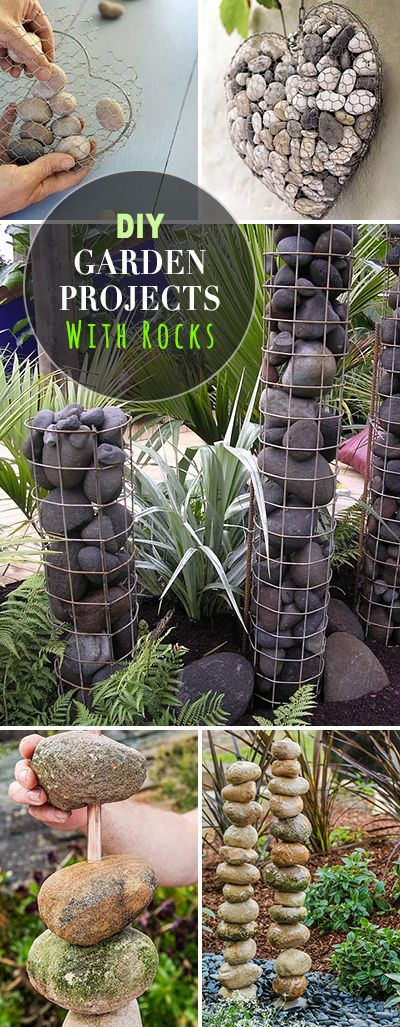 DIY Garden Projects with Rocks • Lots of tutorials, projects and ideas! Click on VISIT SITE for more great ideas!