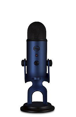 ﹩109.99. Blue Yeti Midnight Blue USB Microphone Brand NEW!   Connectivity - Wired, Connector(s) - USB, Features - Omni-Directional, Microphone Form Factor - Handheld/Stand-Held, Pickup Pattern - Cardioid, Mount Type - None, Design - Freestanding, Type - Condenser Microphone, Description - The smartly designed Blue BLACKOUT YETI Condenser Microphone delivers clear and detailed sound. This wired microphone is connected via its USB plug to ensure an uninterrup