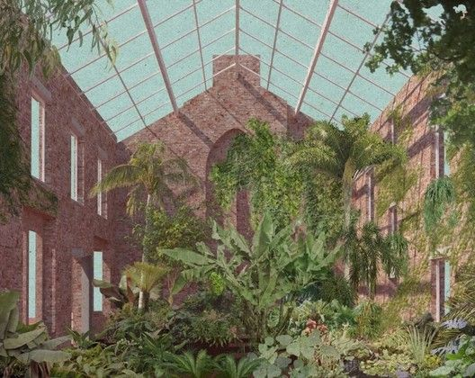 Design for a winter garden in a derelict home in Granby Four Streets. Image Courtesy of Assemble