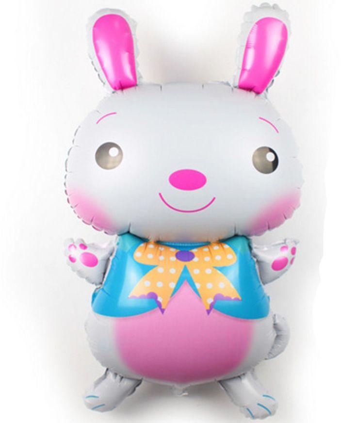Бесплатная доставка новых крупных прекрасный розовый кролик кролики на день рождения ну вечеринку шары оптовая продажа алюминиевый флэш шарами купить на AliExpress