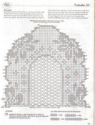 Decke Läufer häkeln - crochet tablerunner