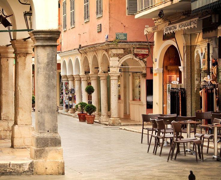 Corfu, Greece. More about Corfu town at http://corfu2travel.com/en/corfu-town.asp  #greece #island #holidays #scenery #architecture #corfutown #greekholidays