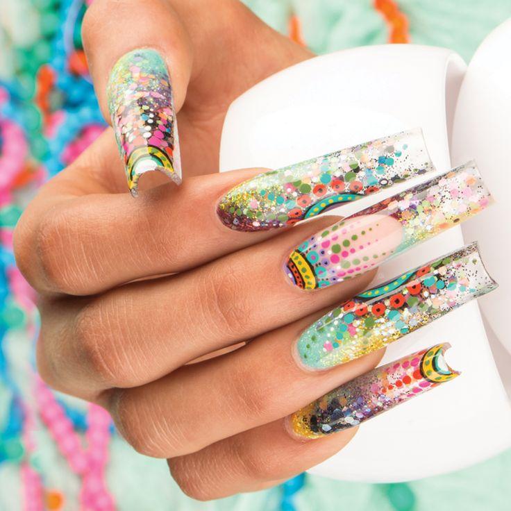 ¡Un diseño místico con los tonos de Top Collection Day y Night!   MANDALA Manolo Rosas / Pro Master Organic® Nails