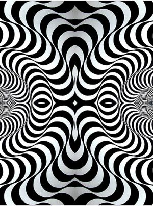 Op Art came about in the 1960s. Optical Art, Op Art for short, features optical illusions that trick the eye. Op art is usually done in black and white, making it monochrome art.