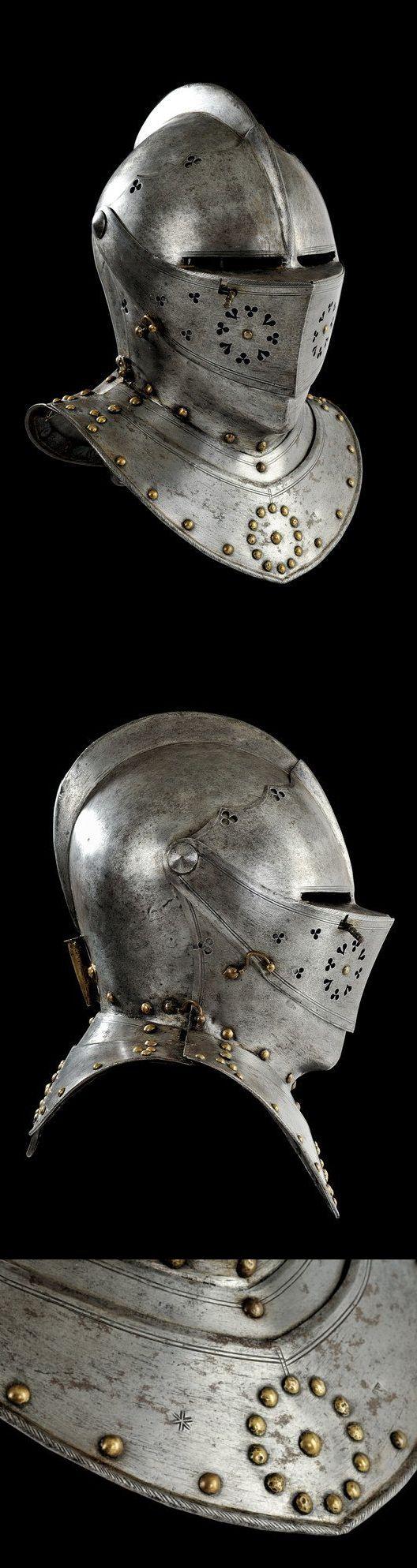 A Nuremberg combat close-helmet, Germany, 1600.