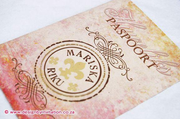 Wedding passport Trou Paspoort © www.designbyinvitation.co.za