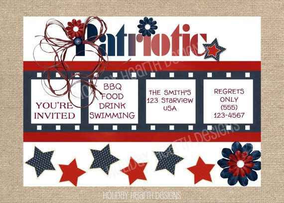 11 best labor day bbq party invitations images on pinterest party handmade labor day digital invitation stopboris Images