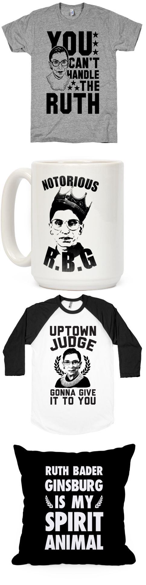 See if you can handle the Ruth with this collection of RBG designs.