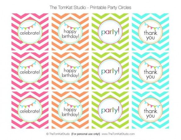 our favorite party crafting supplies free printable chevron birthday party circles cards paper pretties pinterest birthday chevron birthday and