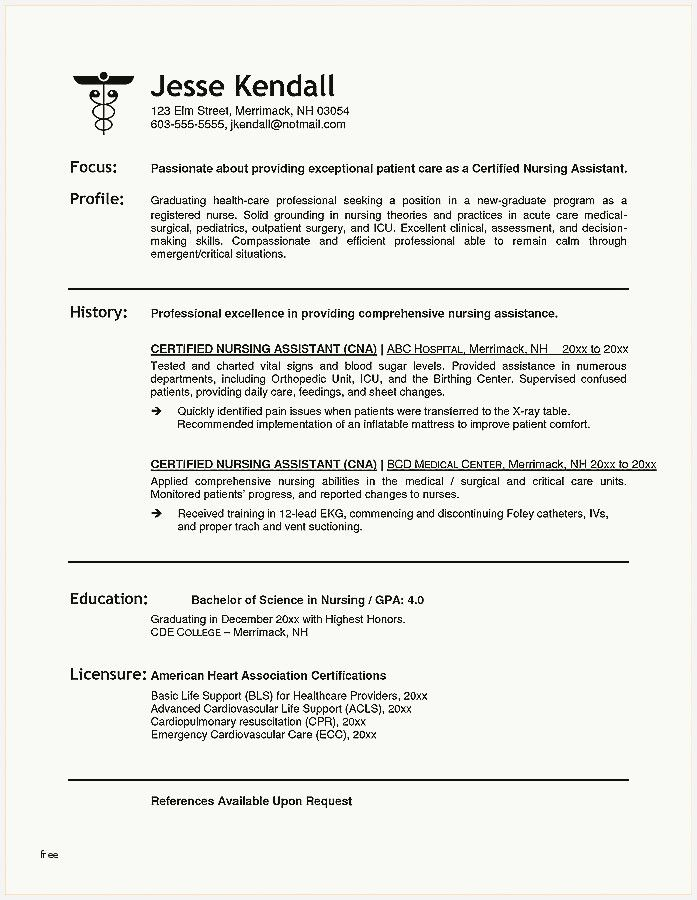 41 Inspirational Resume For Certified Nurse Assistant Pics In 2020 Registered Nurse Resume Nursing Assistant Nursing Resume